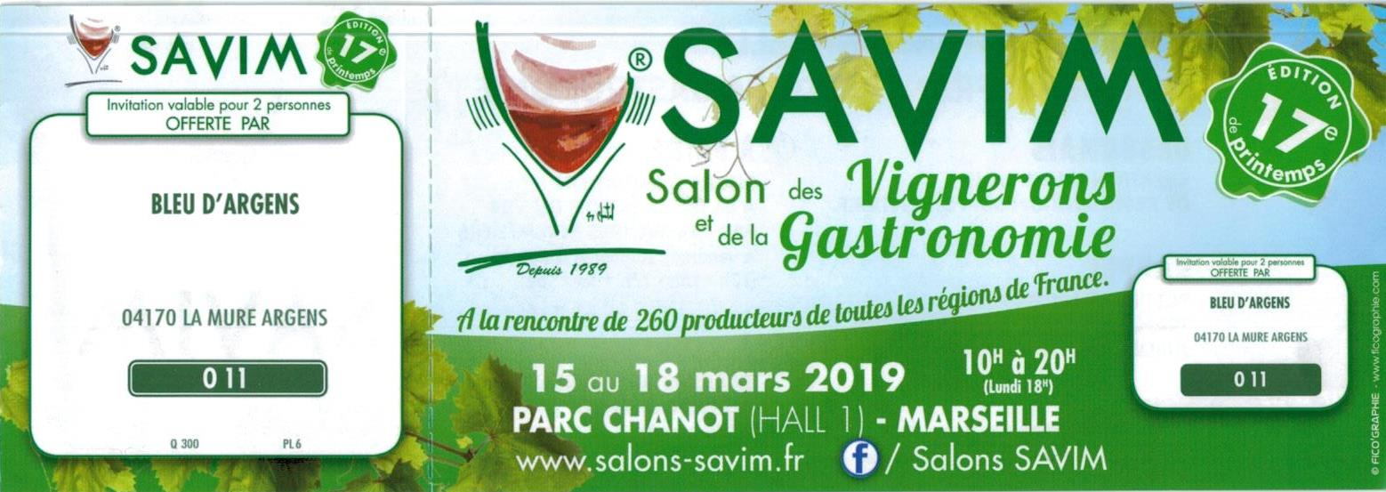 Invitations Savim Printemps 2019
